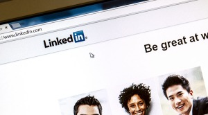 Ostersund, Sweden - August 3, 2014: Linkedin webpage on a comput