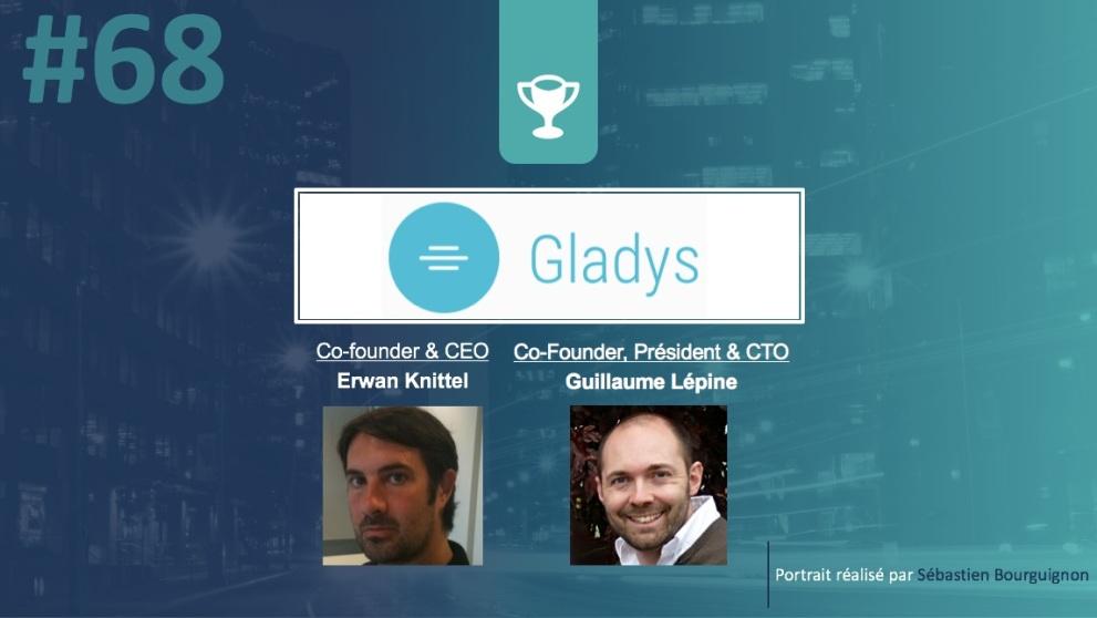 Portrait de startuper #68 - Gladys - Erwan Knittel - Guillaume Lépine - par Sébastien Bourguignon